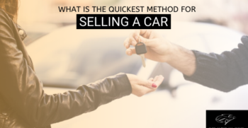 Quickest Method of Selling an old Car