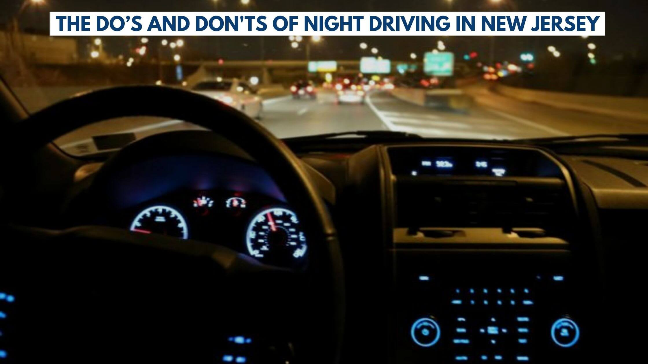 Night Driving In New Jersey
